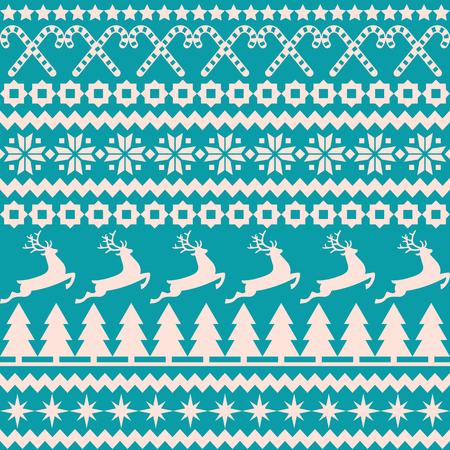 sueter: Vector de fondo sin fisuras patrón de Navidad en el estilo nórdico Vectores