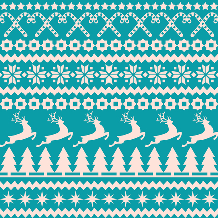 Vector background Christmas seamless pattern in the nordic style