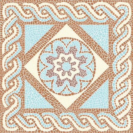 Achtergrondkleur mozaïek in de oude stijl