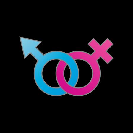 Male and female symbol.Symbol of gender identity Illustration