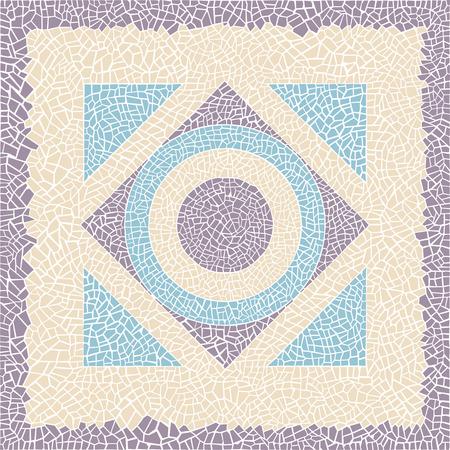 Stock vector illustration pattern antique mosaic Иллюстрация