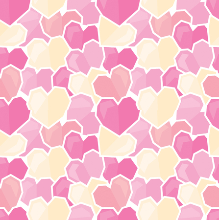 Seamless vector background with colorful hearts