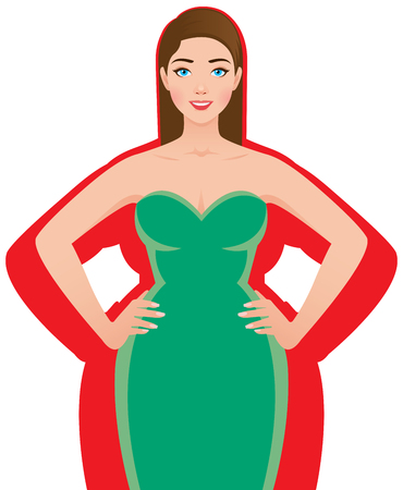 Femme mince après une perte de poids réussie.
