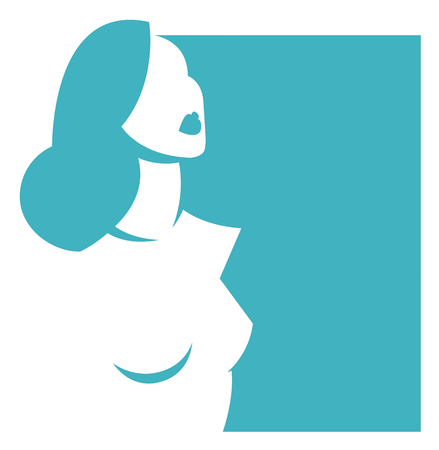 Abstract beautiful woman icon
