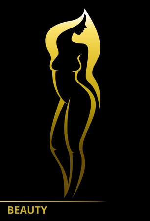 Beautiful woman symbol for the beauty industry 일러스트