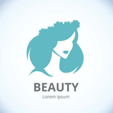 Abstract logo womans face in profileVector abstract logo 일러스트