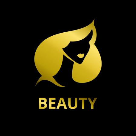 Female stylized portrait logo for the beauty industry