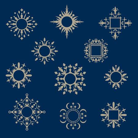 Set of ornamental vector frames