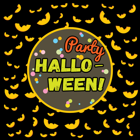Holiday vector background Halloween party in cartoon style
