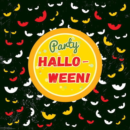 Vector festive background Halloween party in cartoon style
