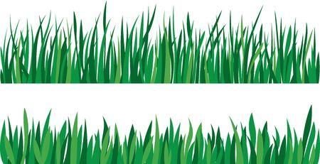 Illustration vectorielle stock Ensemble d'herbe verte isolé sur fond blanc