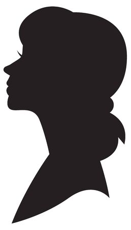 Stylized female portrait. Logo for the beauty industry or template for a business card