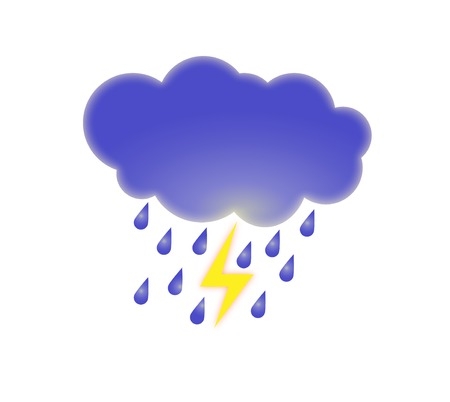 illustration forecast storm Vector