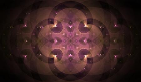 fractal pink: fractal pink clover pink and beige with splashes of bright mandala