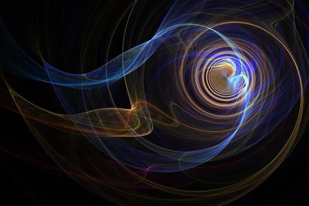 fractal blue red yellow purple smoke spiraling
