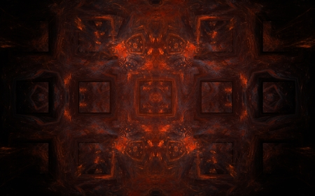 hellish: abstract pattern of dark red color consisting of convex wide volumetric lines intersecting in a lattice pattern, and bright crimson top and bottom of the composition