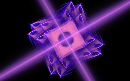 明るい紫の宇宙花