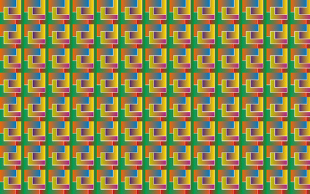 vector illustration background pattern of geometric shapes with gradient in the form of tetris.