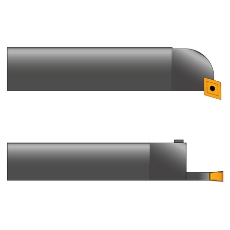 vector illustration of two metal cutters in gray with yellow cutting plates on a white background. Illustration