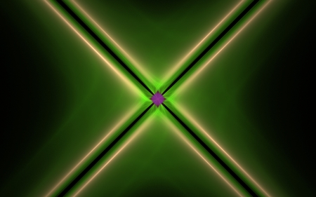 background image energy rays of green with a green edging and a diffuse glow in the number of four pieces emerging from the center of the composition on a black background.