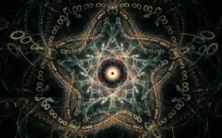 immagine generata digitale sotto forma di forme geometriche astratte di varie tonalità e colori da utilizzare nel web design e nella computer grafica.