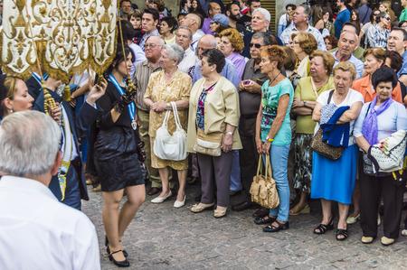 isidro: Madrid, Spain - May, 13, 2014: Religious feast in honor of San Isidro in Madrid