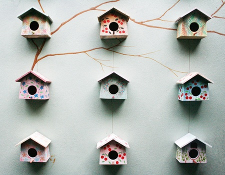Group of bird house photo