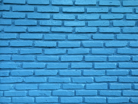 abstract: Blue brick wall for background