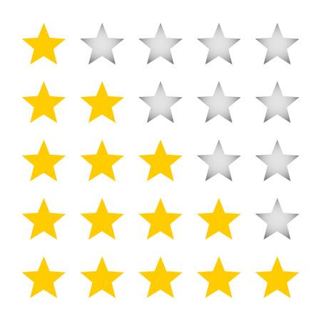 A five-star rating Illustration