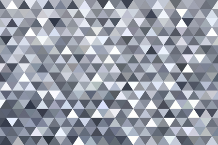 Grey triangle abstract background. Original vector illustration.  イラスト・ベクター素材