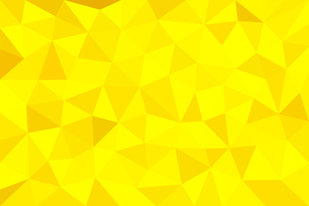 Gold, yellow, polygonal, trigonal background. Abstract vector illustration.