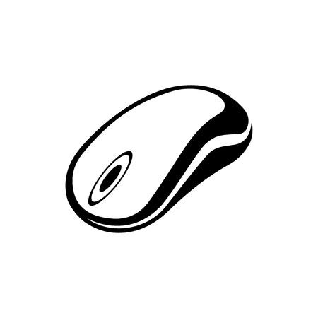 Pictogram computermuis. Een eenvoudige en originele vectorillustratie.