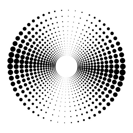 Abstract monochrome background of round dots.