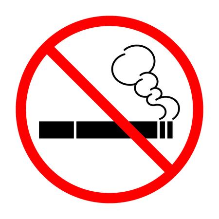 Sign prohibiting Smoking cigarettes