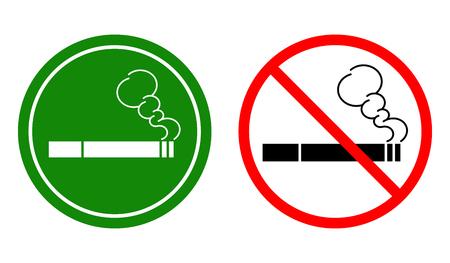 non-Smoking signs and a Smoking area