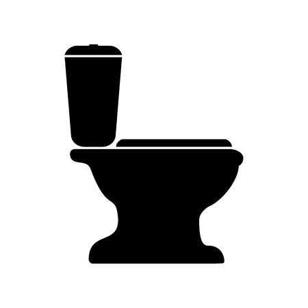 Zeichen der Toilettenvektorillustration