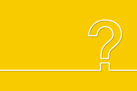 The question mark in yellow background  イラスト・ベクター素材