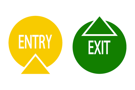 Sign of entry and exit