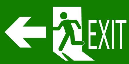 znak wyjścia awaryjnego lub przeciwpożarowego