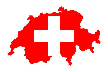 Kaart van de Zwitsers