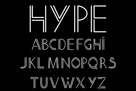 abstract font and alphabet