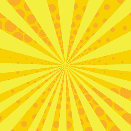 Yellow and orange retro style comic background. Vector illustration in the style of pop art.