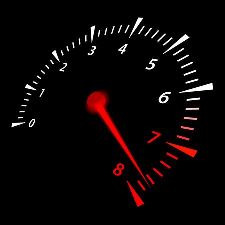 Realistic car tachometer. Vector Illustration