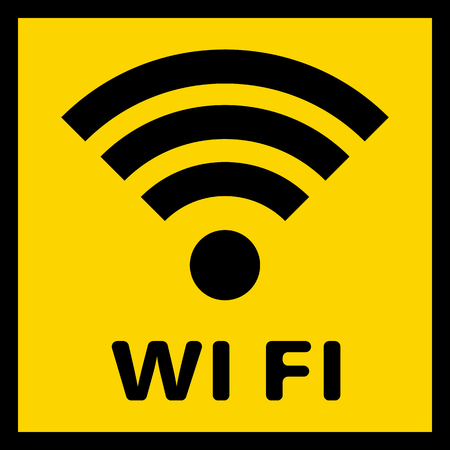 A simple WiFi icon to indicate in the service