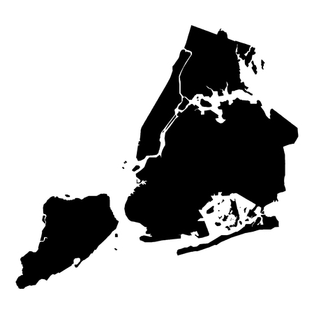 Detailed accurate map of new York in high resolution