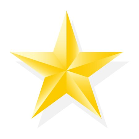 Realistic gold star icon for your design