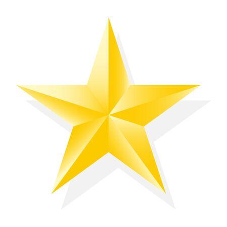 Realistisch gouden sterpictogram voor uw ontwerp