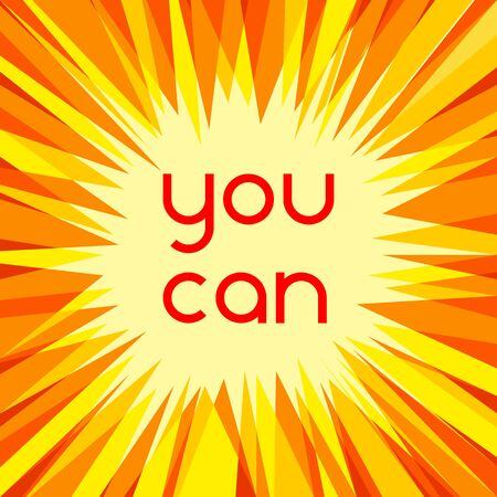 You can motivational slogan for your design and projects Ilustrace