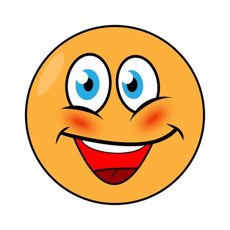 Bright colorful smiling Emoji for your projects