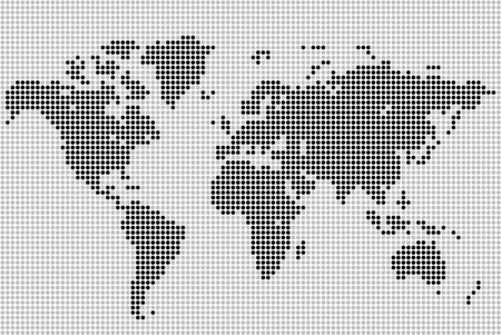 Dotted world map for any of your projects